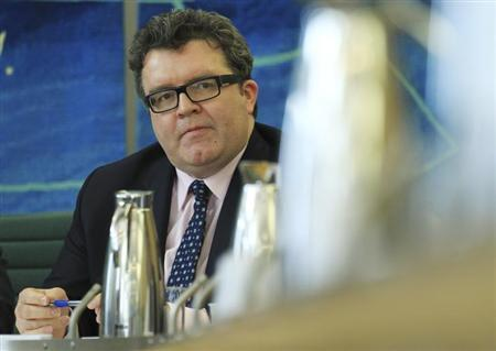 Labour Member of Parliament, Tom Watson, listens during a news conference at the launch of the report into News International and phone hacking at Portcullis House in London May 1, 2012. REUTERS/Olivia Harris