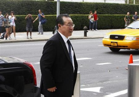 North Korean Vice Foreign Minister Kim Kye-gwan arrives at the Ronald H. Brown United States Mission to the United Nations in New York, July 29, 2011 file photo. REUTERS/Jamie Fine