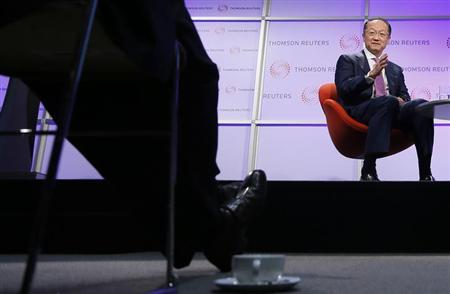 World Bank President Jim Yong Kim speaks at a Thomson Reuters Newsmaker event, at Canary Wharf in east London June 19, 2013 file photo. REUTERS/Stefan Wermuth