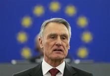 Portugal's President Anibal Cavaco Silva addresses the European Parliament in Strasbourg, June 12, 2013. REUTERS/Vincent Kessler
