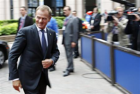 Poland's Prime Minister Donald Tusk arrives at a European Union leaders summit in Brussels June 28, 2013. REUTERS/Francois Lenoir