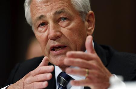 U.S. Secretary of Defense Chuck Hagel testifies at a Senate Appropriations Defense Subcommittee hearing on ''Department Leadership.'' on Capitol Hill in Washington June 11, 2013. REUTERS/Kevin Lamarque