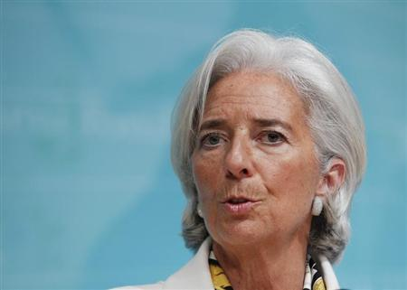 International Monetary Fund Managing Director Christine Lagarde speaks during a news conference at IMF headquarters in Washington June 14, 2013. REUTERS/Jose Luis Magana