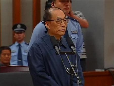 China's former railways minister, Liu Zhijun, attends a trial for charges of corruption and abuse of power at a courthouse in Beijing in this still image taken from video dated June 9, 2013. REUTERS/CCTV via Reuters TV