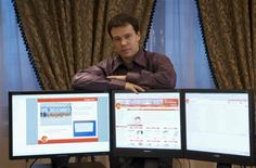 Businessman Sergei Bobylyov poses for a picture at his office in Moscow, March 10, 2009. REUTERS/Oksana Bobylyova