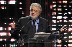 "Tenor and conductor Placido Domingo, general director of the Los Angeles Opera, speaks as he accepts the ""Heart of the City Award"" at the Central City Association of Los Angeles 19th Annual ""Treasures of Los Angeles"" luncheon May 9, 2013. REUTERS/Fred Prouser"