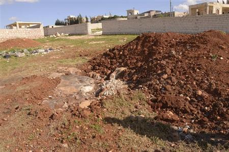 A general view shows what forces loyal to Syria's President Bashar al-Assad say is the site where Tuesday's chemical weapon attack occurred March 23, 2013. REUTERS/George Ourfalian