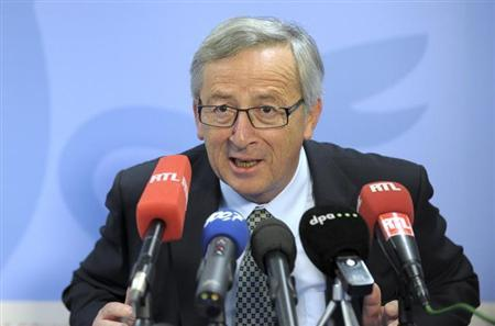 Luxembourg's Prime Minister Jean-Claude Juncker addresses a news conference during a European Union leaders summit in Brussels June 28, 2013. REUTERS/Laurent Dubrule