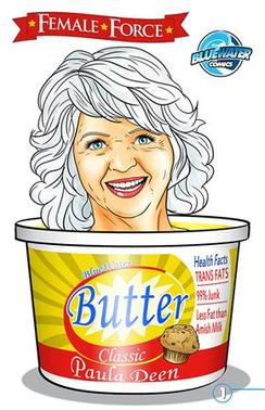 The cover of 'Female Force: Paula Deen' is shown in this handout publicity photo released to Reuters July 10, 2013. REUTERS/Bluewater Productions/Handout via Reuters
