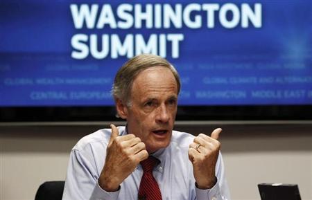 U.S. Senator for Delaware Tom Carper speaks during the Reuters Washington Summit September 22, 2010. REUTERS/Kevin Lamarque