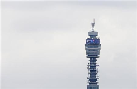 The BT communication tower is seen from Primrose Hill in London April 9, 2013. REUTERS/Suzanne Plunkett