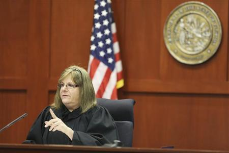 Judge Debra Nelson gives instructions to the attorneys during George Zimmerman's trial in Seminole circuit court in Sanford, Florida July 11, 2013. REUTERS/Gary W. Green/Pool