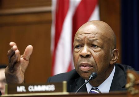 U.S. Representative Elijah Cummings (D-MD) asks questions during ''The Security Failures of Benghazi'' hearing on Capitol Hill, Washington D.C. October 10, 2012. REUTERS/Jose Luis Magana