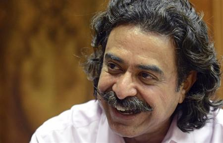 Jacksonville Jaguars NFL football team owner Shahid Khan speaks during an interview with Reuters at EverBank Field in Jacksonville, Florida, February 28, 2012. REUTERS/Don Burk
