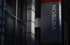 The logo of Nomura Securities is seen outside a branch office in Tokyo January 31, 2013. REUTERS/Shohei Miyano