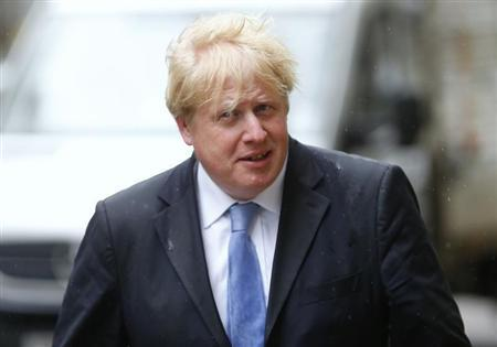 London Mayor Boris Johnson arrives at the Global Investment Conference 2013 in London May 9, 2013. REUTERS/Andrew Winning