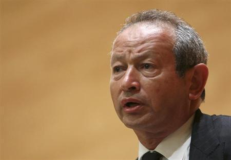Orascom Telecom chairman Naguib Sawiris speaks during a conference in Beirut June 2, 2010. REUTERS/Cynthia Karam/Files
