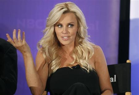 Actress Jenny McCarthy, host of the new reality series ''Love in the Wild'' takes part in a panel discussion at the NBC Universal Summer Press Day 2012 introducing new television shows for the Summer season in Pasadena, California April 18, 2012. REUTERS/Fred Prouser