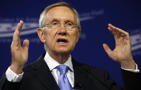Senate Majority Leader Harry Reid (D-NV) speaks about ''Ending Senate Gridlock'' at the Center for American Progress Action Fund in Washington July 15, 2013. REUTERS/Kevin Lamarque