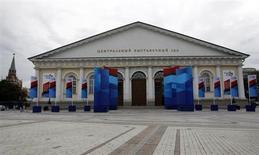 Le Manezh Exhibition Center à Moscou où se réuniront vendredi les ministres des Finances des pays du G20 et les banquiers centraux. Ce sommet ne devrait pas laisser les marchés financiers indifférents au moment où la Réserve fédérale américaine songe à modérer son programme de soutien à l'économie, avant de le clore complètement, et où la Chine tente de stabiliser son économie. /Photo prise le 16 juillet 2013/REUTERS/Sergei Karpukhin