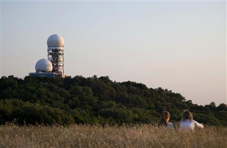 Antennas of the former National Security Agency (NSA) listening station are seen at the Teufelsberg hill, or Devil's Mountain, in Berlin, July 15, 2013. REUTERS/Kirill Iordansky