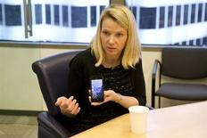Marissa Mayer, President and CEO of Yahoo, answers questions during the Reuters Global Technology Summit in the Thomson Reuters offices in San Francisco, California, June 20, 2013. REUTERS/Beck Diefenbach