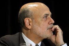 Federal Reserve Chairman Ben Bernanke attends a meeting of the National Bureau of Economic Research in Cambridge, Massachusetts in this July 10, 2013 file photo. REUTERS/Dominick Reuter/Files