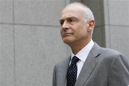 Former Paulson & Co. executive Paolo Pellegrini leaves the Manhattan Federal Court in New York, July 17, 2013. REUTERS/Brendan McDermid