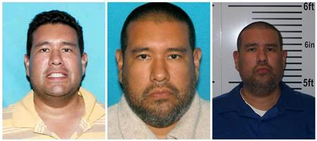 A combination picture shows photos of suspect Anthony Joseph Garcia taken in (L-R) 2006, 2012 and after his arrest in Illinois on July 15, 2013, as released by the Omaha Police Department on July 15, 2013. REUTERS/Omaha Police Department/Handout via Reuters