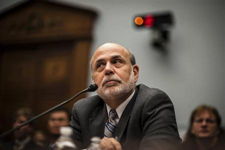 U.S. Federal Reserve Chairman Ben Bernanke delivers his semi-annual monetary policy report to Congress before the House Financial Services Committee in Washington, July 17, 2013. REUTERS/James Lawler Duggan