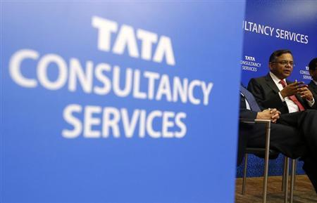 Tata Consultancy Services (TCS) Chief Executive N. Chandrasekaran speaks during a news conference in Mumbai July 18, 2013. REUTERS/Vivek Prakash