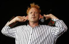 Johnny Rotten performs with the Sex Pistols during the Exit music festival in Novi Sad, northerm Serbia, July 14, 2008. REUTERS/Marko Djurica