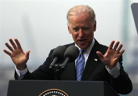 U.S. Vice President Joe Biden delivers his speech at the port of Rio de Janeiro May 29, 2013. REUTERS/Pilar Olivares
