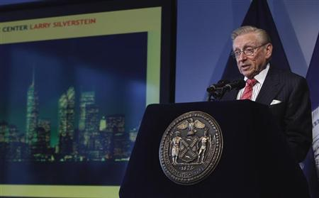 World Trade Center developer Larry Silverstein speaks at an event to update the public on the pace of development at the site in New York September 7, 2011. REUTERS/Lucas Jackson