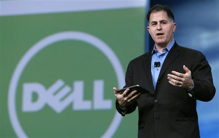 Dell founder and CEO Michael Dell delivers his keynote address at Oracle Open World in San Francisco, California September 22, 2010. REUTERS/Robert Galbraith