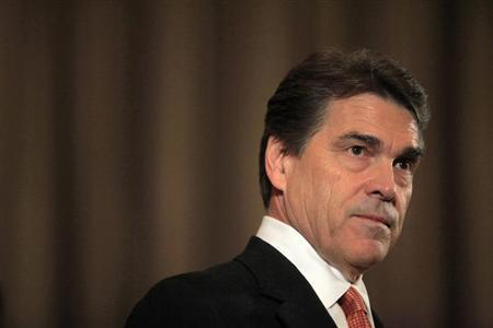 Republican Presidential candidate Texas Governor Rick Perry speaks at a news conference in New York September 20, 2011. REUTERS/Eric Thayer