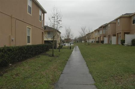 The scene of the Feb. 26 homicide where George Zimmerman, 28, shot and killed Trayvon Martin in Sanford, Florida is shown in this handout photo provided by the State Attorney's Office on May 17, 2012.REUTERS/State Attorney's Office/Handout