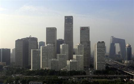 Buildings are seen in Beijing's central business district, July 11, 2013.REUTERS/Jason Lee