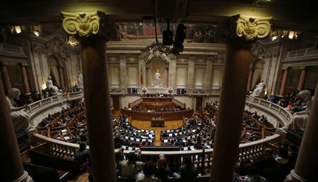 A general view of Portuguese parliament during the debate concerning the state of the nation in Lisbon July 12, 2013. REUTERS/Rafael Marchante