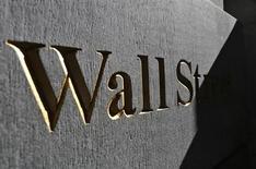 Wall Street is written on a building in New York's financial district, March 4, 2013. REUTERS/Brendan McDermid
