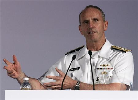 U.S. Navy's Chief of Naval Operations Admiral Jonathan Greenert speaks during the International Maritime Security Conference in Singapore May 15, 2013. REUTERS/Edgar Su