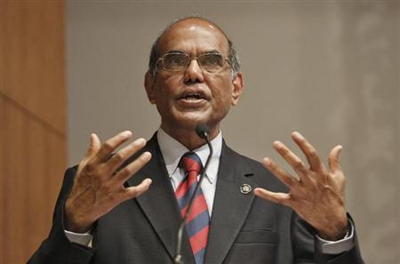 Reserve Bank of India (RBI) Governor Duvvuri Subbarao speaks during a business conference in Ahmedabad May 30, 2013. REUTERS/Amit Dave/Files