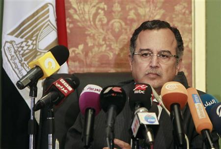 Egypt's new Foreign Minister Nabil Fahmy speaks during a news conference in Cairo July 20, 2013. REUTERS/Mohamed Abd El Ghany