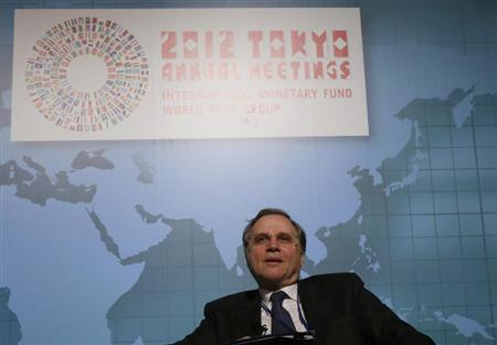 Bank of Italy Governor Ignazio Visco attends a program of seminars of the International Monetary Fund and World Bank annual meetings in Tokyo October 10, 2012. REUTERS/Toru Hanai/Files