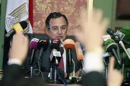 Egypt's new Foreign Minister Nabil Fahmy speaks during a news conference in Cairo July 20, 2013. REUTERS/Mohamed Abd El