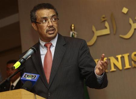 Ethiopia's Foreign Minister Tedros Adhanom speaks during a joint news conference with Algeria's Foreign Minister Mourad Medelci in Algiers June 30, 2013. REUTERS/Ramzi Boudina