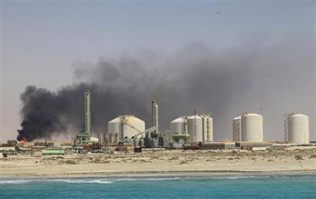 A general view of the Zueitina oil terminal in Zueitina, about 120 km (75 miles) west of Benghazi July 18, 2013. REUTERS/Esam Al-Fetori