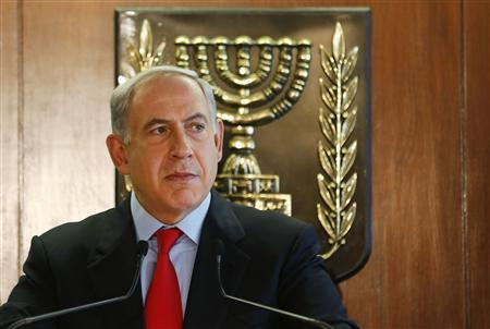 Israeli Prime Minister Benjamin Netanyahu delivers a statement to the media at the Knesset, Israeli parliament, in Jerusalem July 22, 2013. REUTERS/Baz Ratner