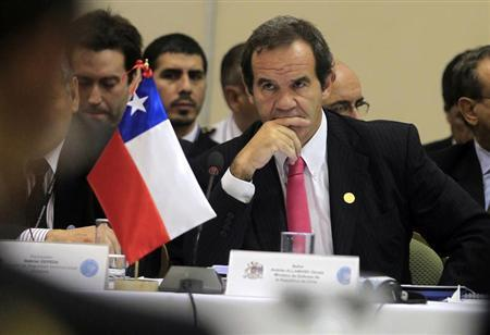 Chilean defense minister Andres Allamand attends a meeting during the Third South American Defense Council (UNASUR) in Lima May 12, 2011. REUTERS/Pilar