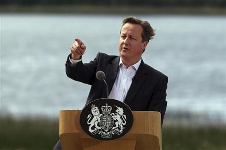 Britain's Prime Minister David Cameron answers questions at a concluding news conference after the G8 summit at Lough Erne in Enniskillen, Northern Ireland June 18, 2013. REUTERS/Matt Cardy/POOL